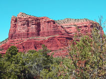 Red Rocks of sedona. With beautiful blue sky Royalty Free Stock Photos