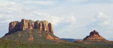 The Red Rocks of Sedona - panorama Stock Images