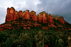 Red Rocks of Sedona Steaming Stock Photos