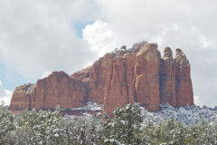 Red Rocks in Snow Stock Photos