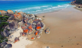 Red Rocks of Squeaky Beach, Victoria -  Australia Royalty Free Stock Photos