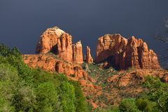 Red Rocks before the storm stock image