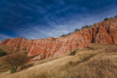 Red rocks at sunrise Royalty Free Stock Photography