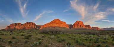 Red Rocks Sunrise Panorama Stock Photo