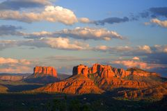 Red Rocks sunset. Scenic view of Arizona Red Rocks at sunset Royalty Free Stock Images