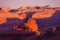 Red Rocks Sunset Scenery Royalty Free Stock Photos