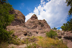 Red Rocks Trail, Boulder, Colorado. Stock Photo