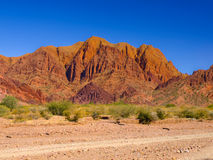 Red rocks of Tupiza. Red rock formations in the dry valley - quebrada - of western-like landscape near small town Tupiza in southern Bolivia Stock Images