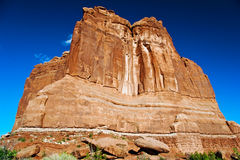 Red rocks of Utah. Red rocks under  the blue sky. Arches National Park Royalty Free Stock Image