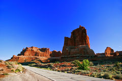Red rocks of Utah. Red rocks under  the blue sky. Arches National Park Stock Photography