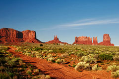 Red rocks of Utah. Red rocks under  the blue sky. Arches National Park Stock Images