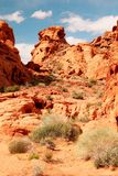 Red rocks at Valley of fire Royalty Free Stock Images