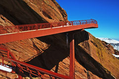 Red Rocks walkway Royalty Free Stock Image