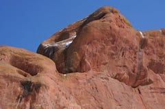 Red Rocks in winter Stock Image