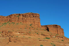 Red rocks, Wyoming. Red rocks and blue sky, Wyoming Stock Image