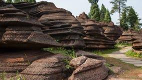 Red rocks of Zhangjiajie Stock Image