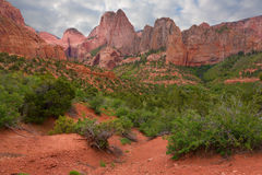 Red rocks of Zion Stock Photography