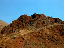 Red Rocky Cliffs Stock Photo