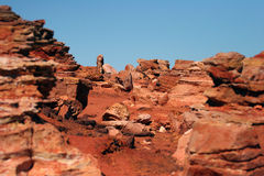 Red rocky outcrop at Broome Stock Images