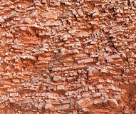 Red rocky soil. In a cut Royalty Free Stock Image