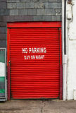 Red roll door Royalty Free Stock Image
