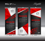 Red Roll Up Banner template vector illustration,banner design, p Royalty Free Stock Photo