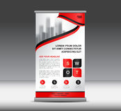 Red Roll Up Banner template vector illustration, banner design Royalty Free Stock Images