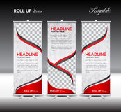 Red Roll Up Banner template vector illustration Royalty Free Stock Photos
