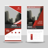 Red roll up business brochure flyer banner design , cover presentation abstract geometric background, modern publication x-banner Royalty Free Stock Photo