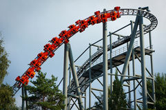 Red Roller coaster Royalty Free Stock Image
