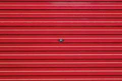 Red roller shutter Royalty Free Stock Photos