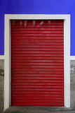 Red roller shutter Royalty Free Stock Image