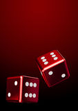 Red rolling dice Stock Image