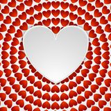 Red romance background with hearts Royalty Free Stock Image