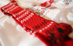 Red romanian popular pattern Royalty Free Stock Image