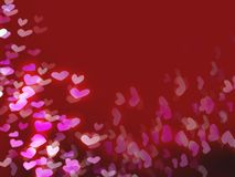 Red romantic background with hearts Royalty Free Stock Photography