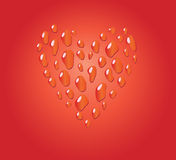 Red romantic drop heart Royalty Free Stock Photos