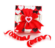 Red romantic gift box Stock Image