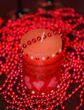 Red romantic love candle Stock Photography