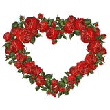 Red romantic roses heart Royalty Free Stock Photography