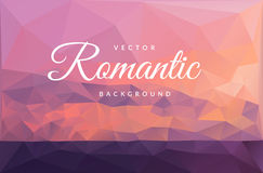 Red romantic sunset on the sea vector background Stock Photo