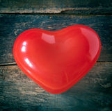 Red romantic Valentines heart Royalty Free Stock Photos