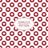 Red romantic wedding geometric seamless pattern Stock Photography