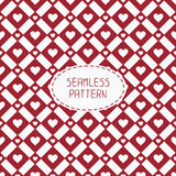 Red romantic wedding geometric seamless pattern Royalty Free Stock Images