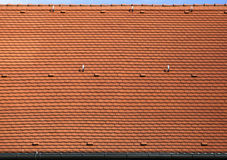 Red roof. Abstract background of a red tiles roof Stock Photos