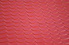 Red roof. Clouse up of a metal roof Royalty Free Stock Images