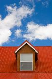 Red roof. Under the sky Stock Photography