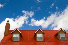Red roof. Under the sky Royalty Free Stock Photos