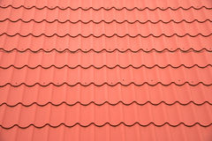 Red roof as background Stock Photography