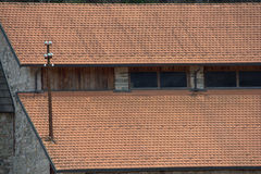 Red roof attic Royalty Free Stock Image